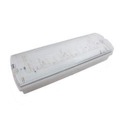 Nødlys LED V-Tac 3W LED exit skilt - Til vegg/tak montering, 140 lumen, inkl. batteri og piktogrammer