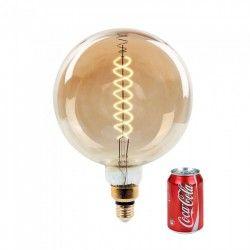 E27 LED V-Tac 8W LED kjempe globepære - Karbon filamenter, Ø20 cm, dimbar, ekstra varm hvit, 2200K, E27