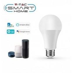 E27 LED V-Tac 9W E27 LED pære - Google Home, Amazon Alexa kompatibel, E27