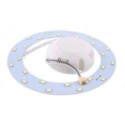 2D kompakt lysrør LED innsats 6W - Ø11 cm, Erstatt sirkulære rør og kompakt rør