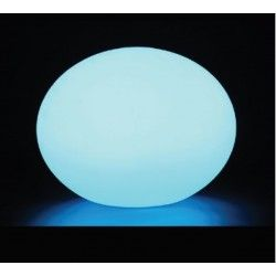 V-Tac RGB LED oval kule - Oppladbart, med fjernkontroll, Ø20 cm