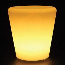 Lamper V-Tac RGB LED potteskjuler - Oppladbart, med fjernkontroll, 28x28x29 cm