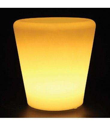 V-Tac RGB LED potteskjuler - Oppladbart, med fjernkontroll, 28x28x29 cm
