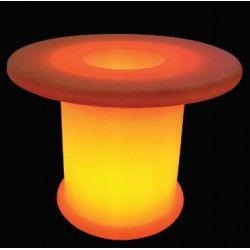 V-Tac RGB LED bord - Oppladbart, med fjernkontroll, Ø70x54 cm