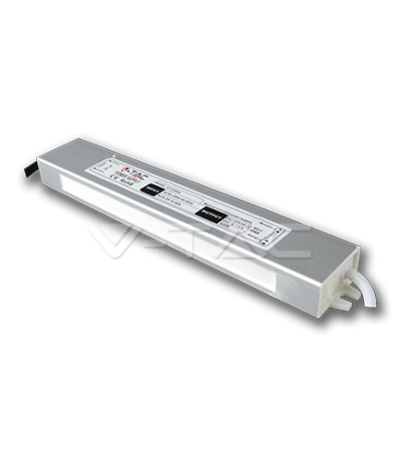 V-Tac 30W strømforsyning - 12V DC, 2,5A, IP65 vanntett
