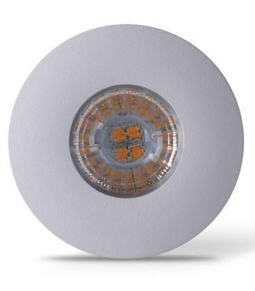 LEDlife Inno69 møbelspot - Hull: Ø5,5 cm, Mål: Ø6,9 cm, RA95, matt hvit, 6V