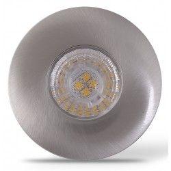 Møbel og skap LEDlife Inno69 møbelspot - Hull: Ø5,5 cm, Mål: Ø6,9 cm, RA95, børstet stål, 6V