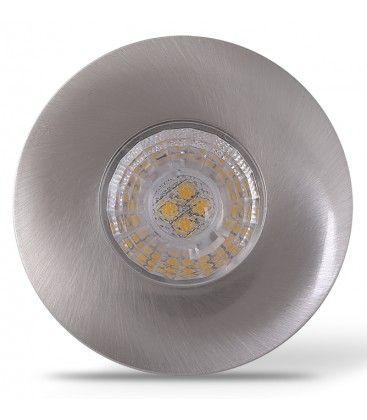 LEDlife Inno69 møbelspot - Hull: Ø5,5 cm, Mål: Ø6,9 cm, RA95, børstet stål, 6V