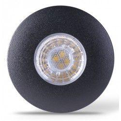 LEDlife Inno69 møbelspot - Hull: Ø5,5 cm, Mål: Ø6,9 cm, RA95, svart, 6V