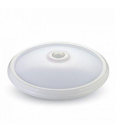 V-Tac 12W LED sensorlampe - Samsung LED chip, PIR sensor, IP20 innendørs, 230V, inkl. lyskilde