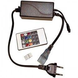 8x16 RGB controller til Neon Flex LED - Inkl. endestykke, IR, 230V