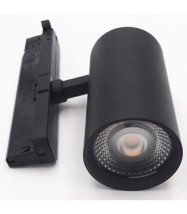 LEDlife svart skinnespot 30W - Flicker free, RA90, 3-faset