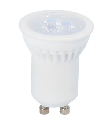Mini 3W LED spot - Ø35mm, keramisk, 230V, mini GU10