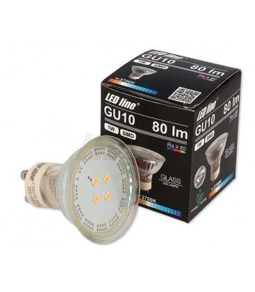 Grønn LED spot - 1W, 230V, GU10