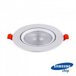 LED panel downlights V-Tac 20W LED downlight - Hull: Ø14,5 cm, Mål: Ø17 cm, 3 cm høy, Kan vippes, Samsung chip, 230V
