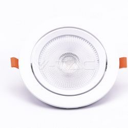 Downlights V-Tac 20W LED spotlight - Hull: Ø14,5 cm, Mål: Ø17 cm, 3 cm høy, Samsung LED chip, 230V