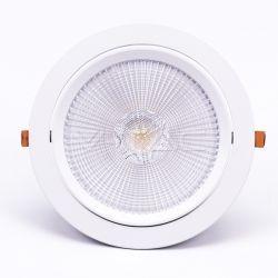 LED panel downlights V-Tac 30W LED downlight - Hull: Ø19,5 cm, Mål: Ø22,5 cm, 3 cm høy, Kan vippes, Samsung chip, 230V