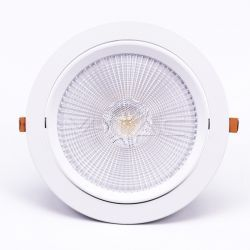 LED downlights V-Tac 30W LED spotlight - Hull: Ø19,5 cm, Mål: Ø22,5 cm, 3 cm høy, Samsung LED chip, 230V