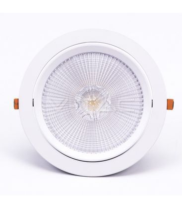 V-Tac 30W LED spotlight - Hull: Ø19,5 cm, Mål: Ø22,5 cm, 3 cm høy, Samsung LED chip, 230V