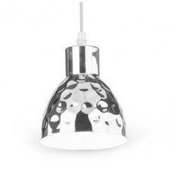 V-Tac kobber pendel lampe - krom farve, Ø15 cm, E27