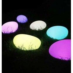 Lamper V-Tac RGB LED sten - Oppladbart, med fjernkontroll, 28x21x17 cm