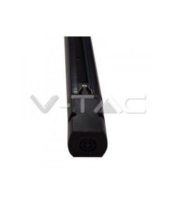 V-Tac 1 meter skinne for skinnespots - Svart, 3-faset