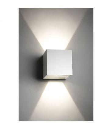 V-Tac 6W LED hvit vegglampe - Firkantet, justerbar spredning, IP65 utendørs, 230V, inkl. lyskilde
