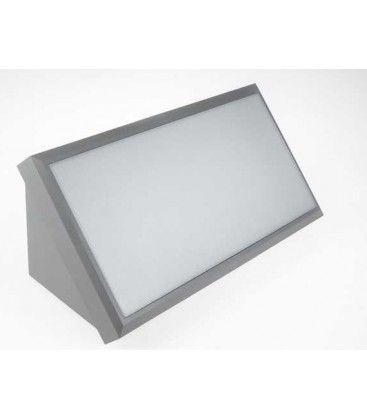 V-Tac 20W LED vegglampe - Grå, IP65 utendørs, 230V, inkl. lyskilde