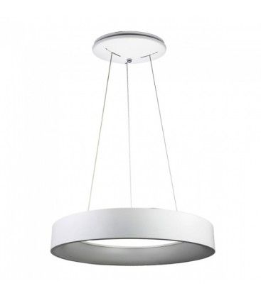 V-Tac 30W LED lysekrone - Hvit, soft lys, dimbar, varm hvit, inkl. lyskilde