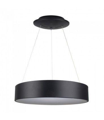 V-Tac 30W LED lysekrone - Svart, soft lys, dimbar, varm hvit, inkl. lyskilde