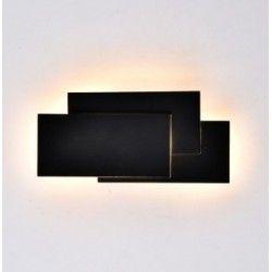 Lamper V-Tac 12W LED svart vegglampe - IP20 innendørs, 230V, inkl. lyskilde