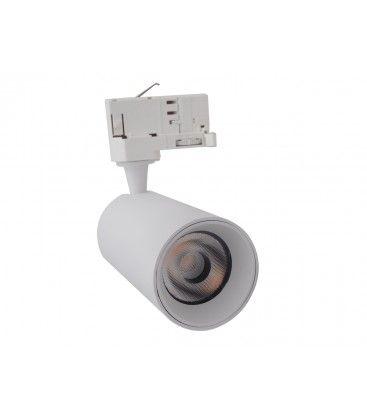 LEDlife hvit skinnespot 10W - Flicker free, RA90, 3-faset