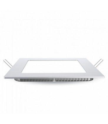 V-Tac 18W LED panel downlight - Hull: 21x21 cm, Mål: 22,5x22,5 cm, 230V, Samsung chip