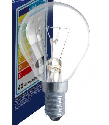 Klar E14 40W glødetrådpære - Classic, 400lm, dimbar, PS45