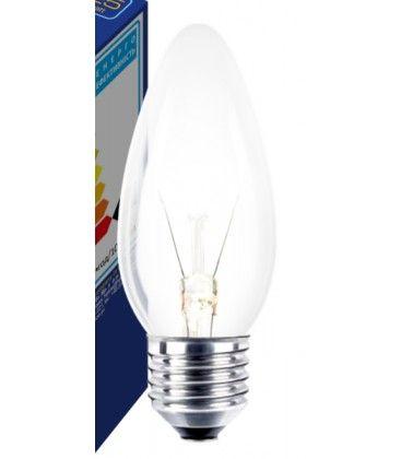 Klar E27 25W glødetrådspære - Classic, 200lm, dimbar, B35