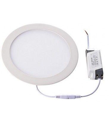 LEDlife 12W LED panel downlight - Hull: Ø18 cm, Mål: Ø21 cm, 230V