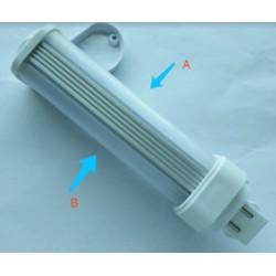 G24D LED pære - 5W, 240°, mattert