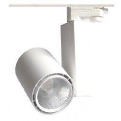 Lamper 30W skinnespot - Citizen LED chip, 3000K, 60 grader, 1 fase
