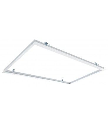 Innbyggingsramme for 120x60 LED panel - Passende for trebetong og gips