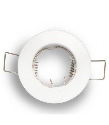 Downlight kit uten lyskilde - Hull: Ø4 cm, Mål: Ø6 cm, mat hvit, velg fatning