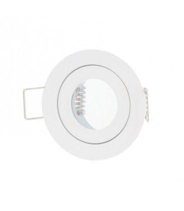 Downlight kit uten lyskilde - Hull: Ø4 cm, Mål: Ø5,5 cm, hvit, IP44, velg MR11 eller GU10 fatning