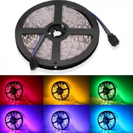 V-Tac 4,8W/m RGB LED strip - 5m, 30 LED per meter!