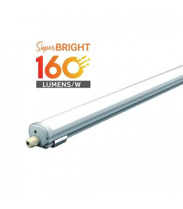 V-Tac vanntett 24W komplett LED armatur - 120 cm, 160 lm/W, IP65, 230V