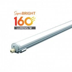 Med LED - Lysrør armatur V-Tac vanntett 32W LED komplett armatur - 150 cm, 160 L/W, IP65, 230V