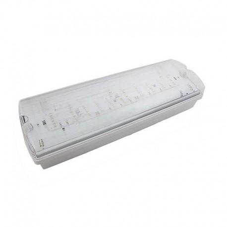 V-Tac 3W LED exit skilt - Til vegg/tak montering, 140 lumen, inkl. batteri og piktogrammer