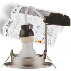 LED downlights V-Tac 3-pak downlights med 5W lyskilde - Stål front, komplett med GU10 holder og LED spotter, innendørs