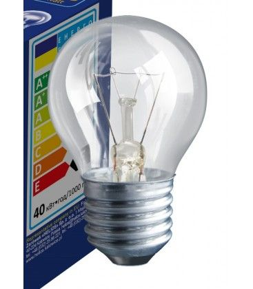 Klar E27 40W glødetrådspære - Classic, 400lm, dimbar, PS45