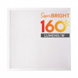 Store paneler V-Tac LED panel 60x60 - 25W, 4000lm, 160lm/w, innebygd i hvit ramme