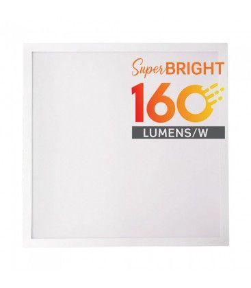 V-Tac 60x60 LED panel - 25W, 4000lm, 160lm/w, innebygd i hvit ramme