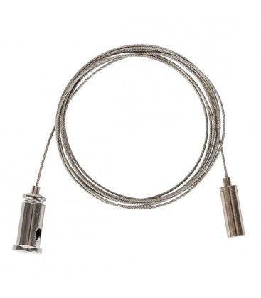Wire oppheng for armatur - 1,5 meter, justerbar høyde, sett med 2 stk.
